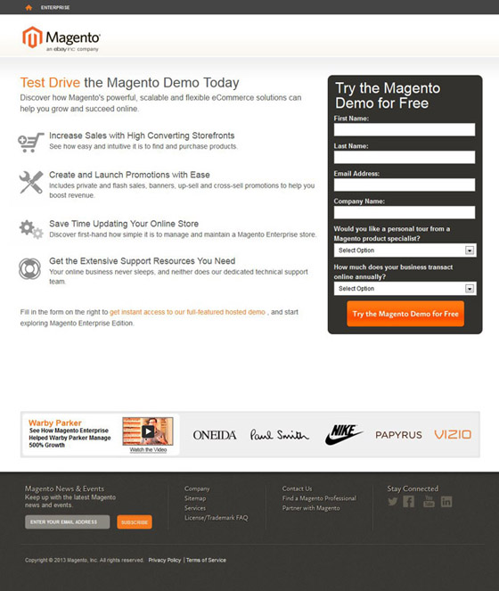 magento landing pages - Khafre
