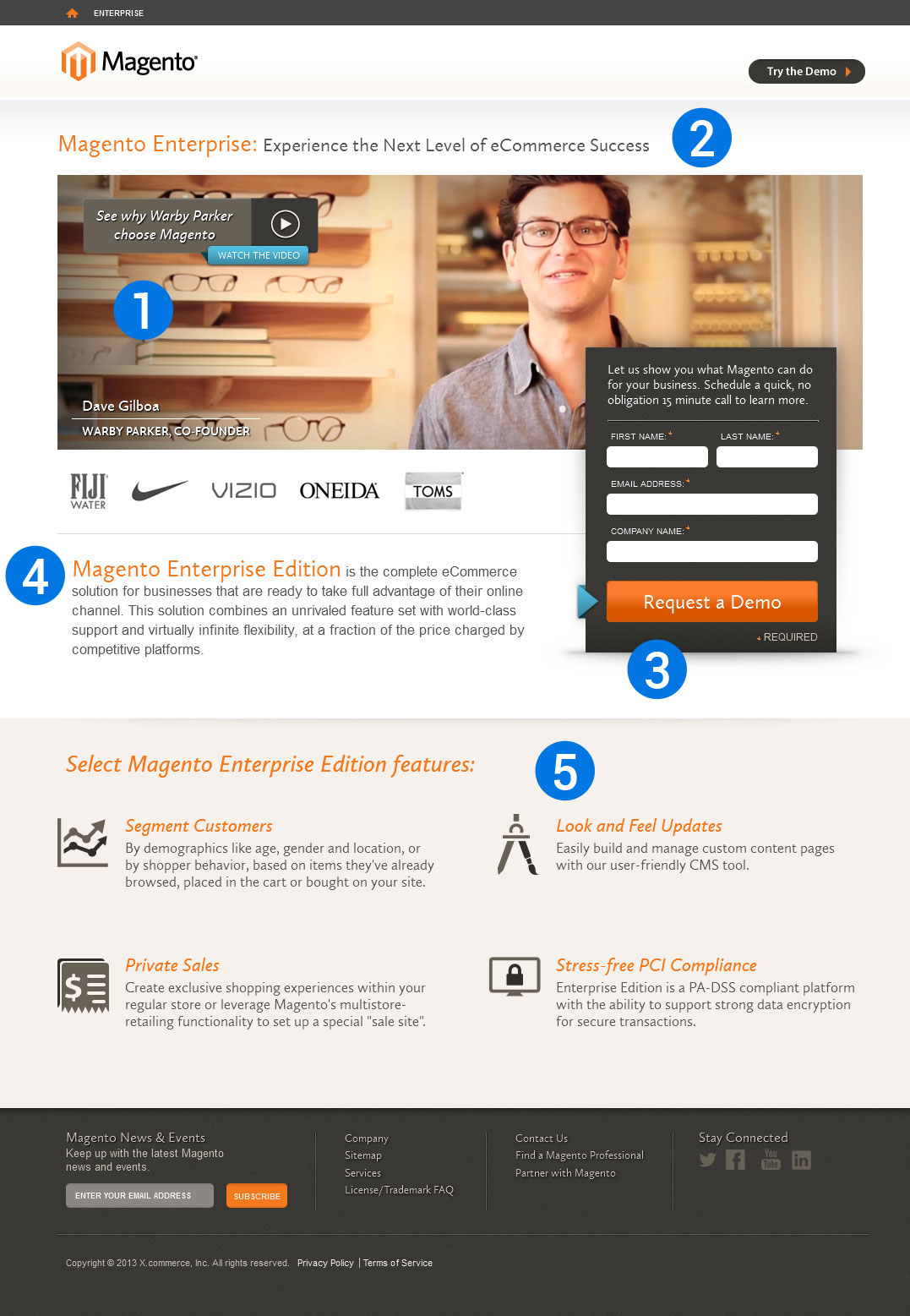 magento landing pages - pacq.co
