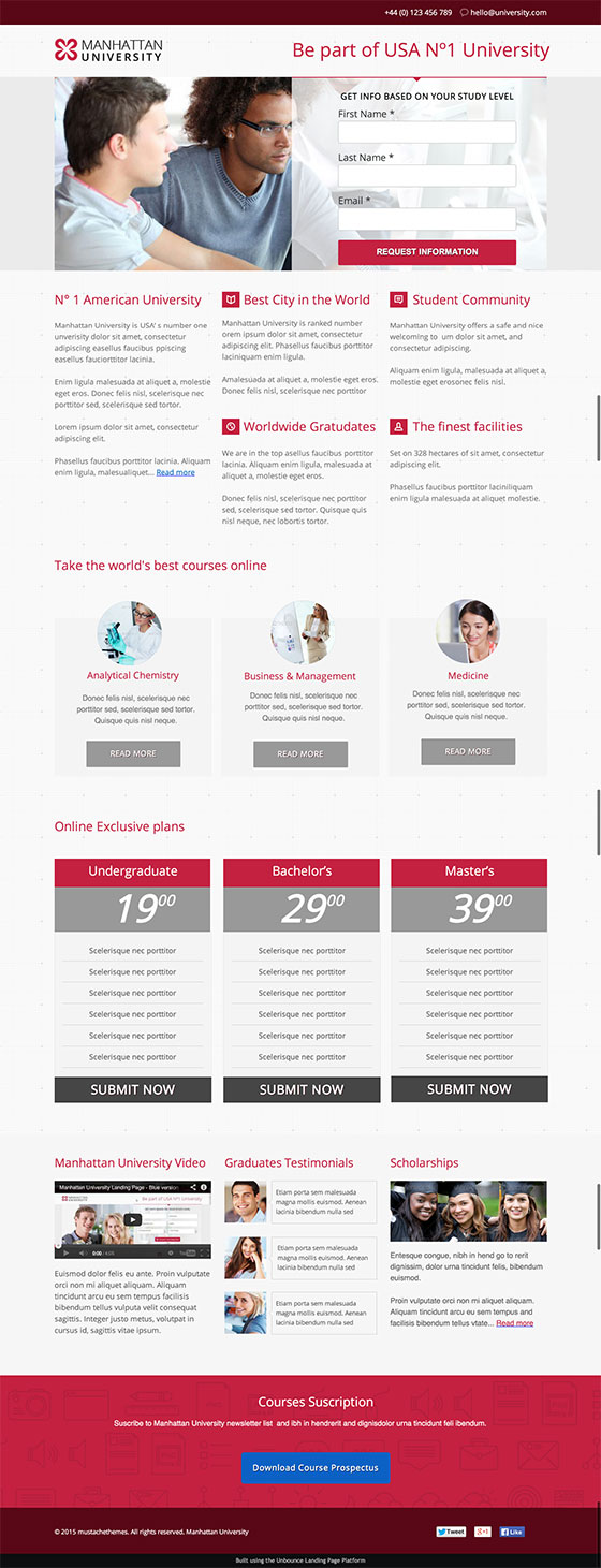 Beautiful Landing Page Templates Designed Just For You - Sample landing page template