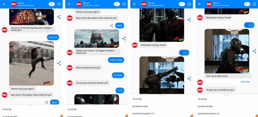 Marvel's social commerce campaign