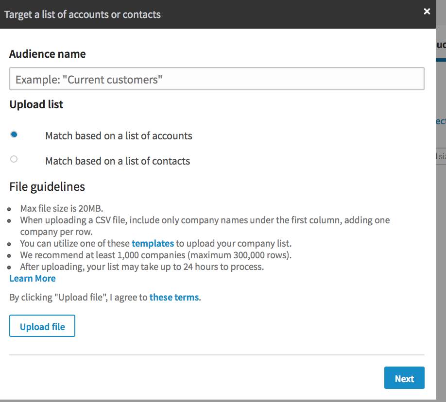 LinkedIn: Matched Audiences
