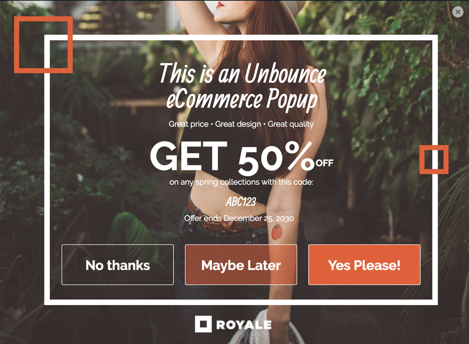 Maybe Later - A New interaction model for ecommerce entrance popups