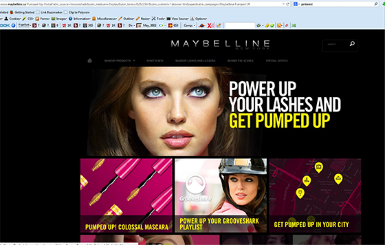 Native advertising: Maybelline microsite