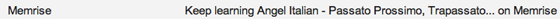 memrise email subject line