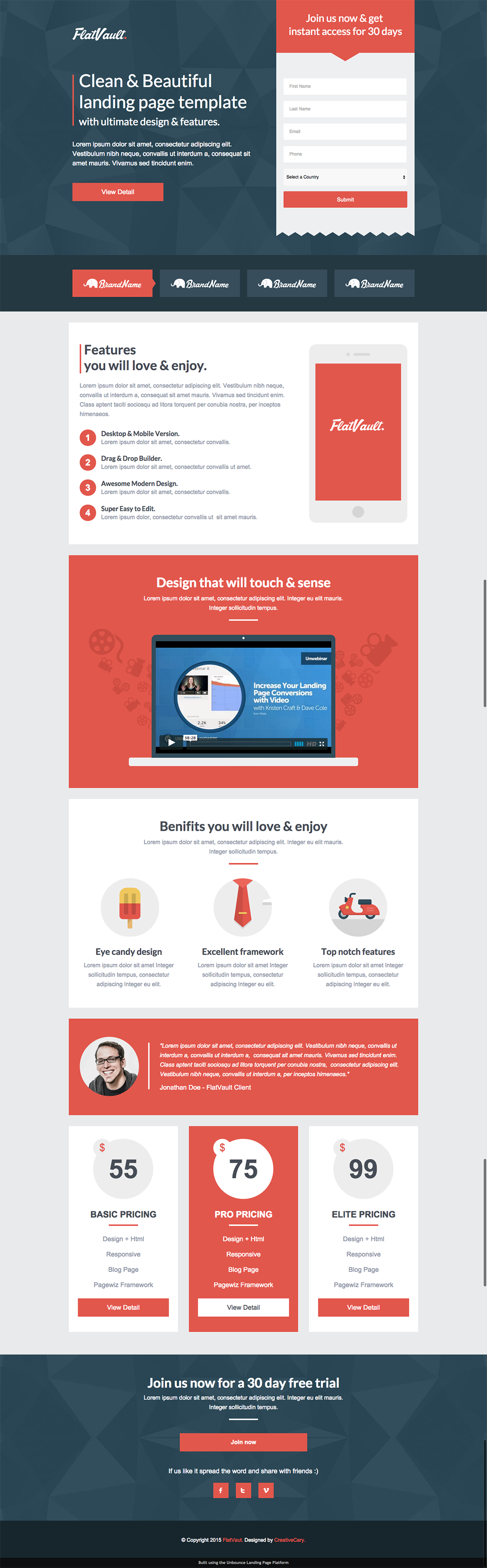 8 Mobile-Friendly Landing Page Templates Designed With Love