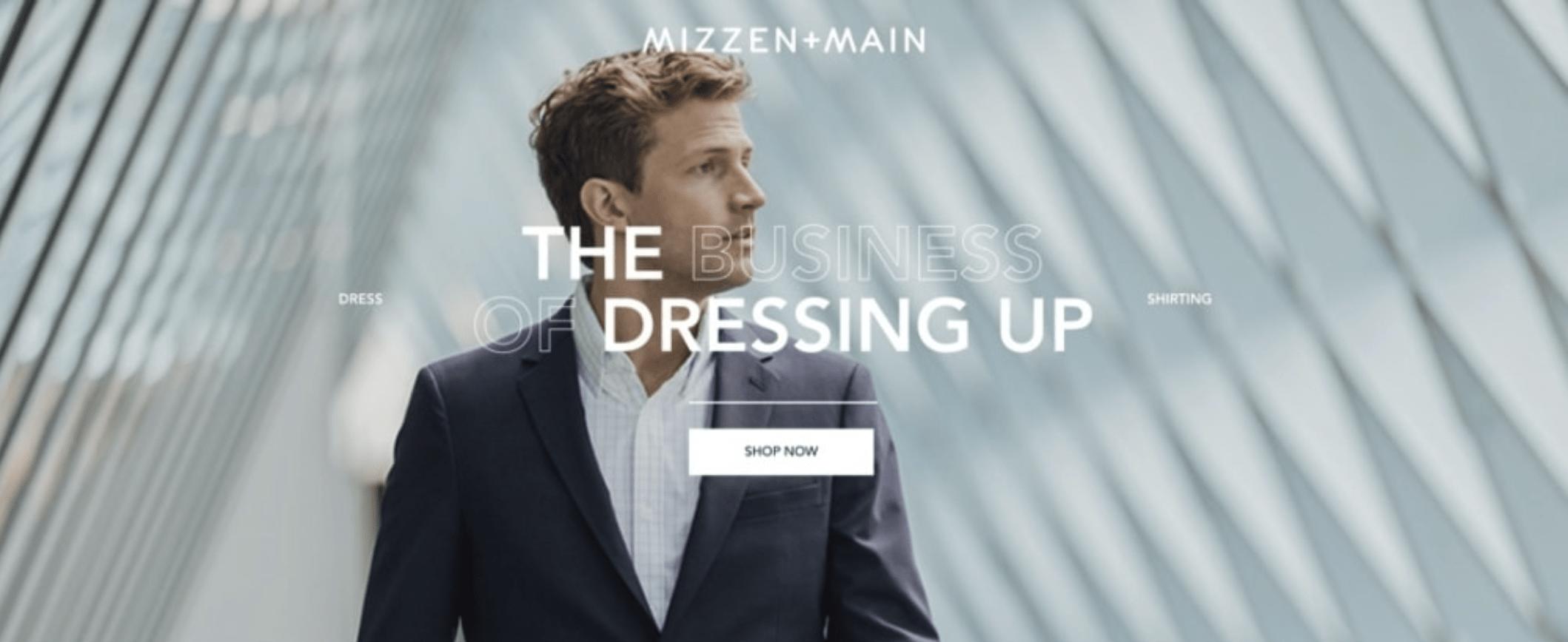 Landing Page Headlines - Mizzen + Main