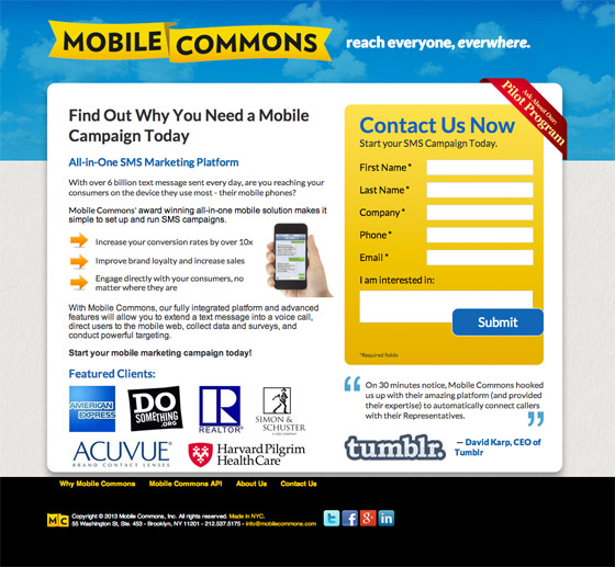 mobile commons <a href=