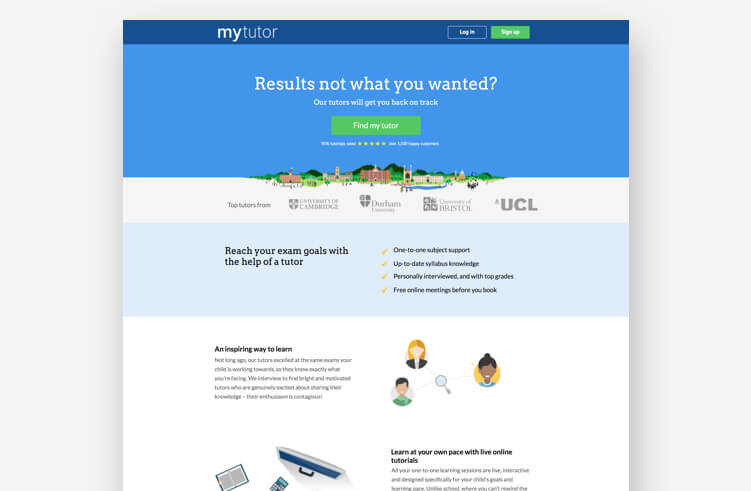 High-Converting Landing Page: MyTutor