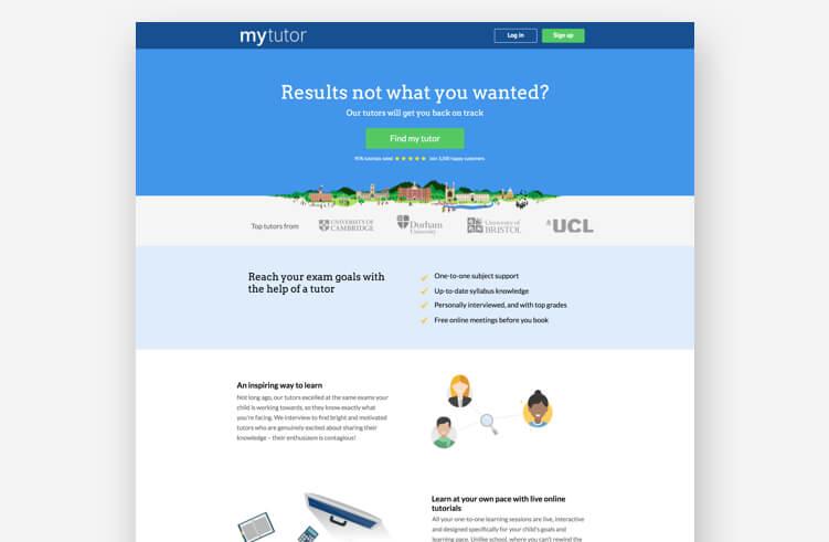 High-Converting Landing Page: MyTutor