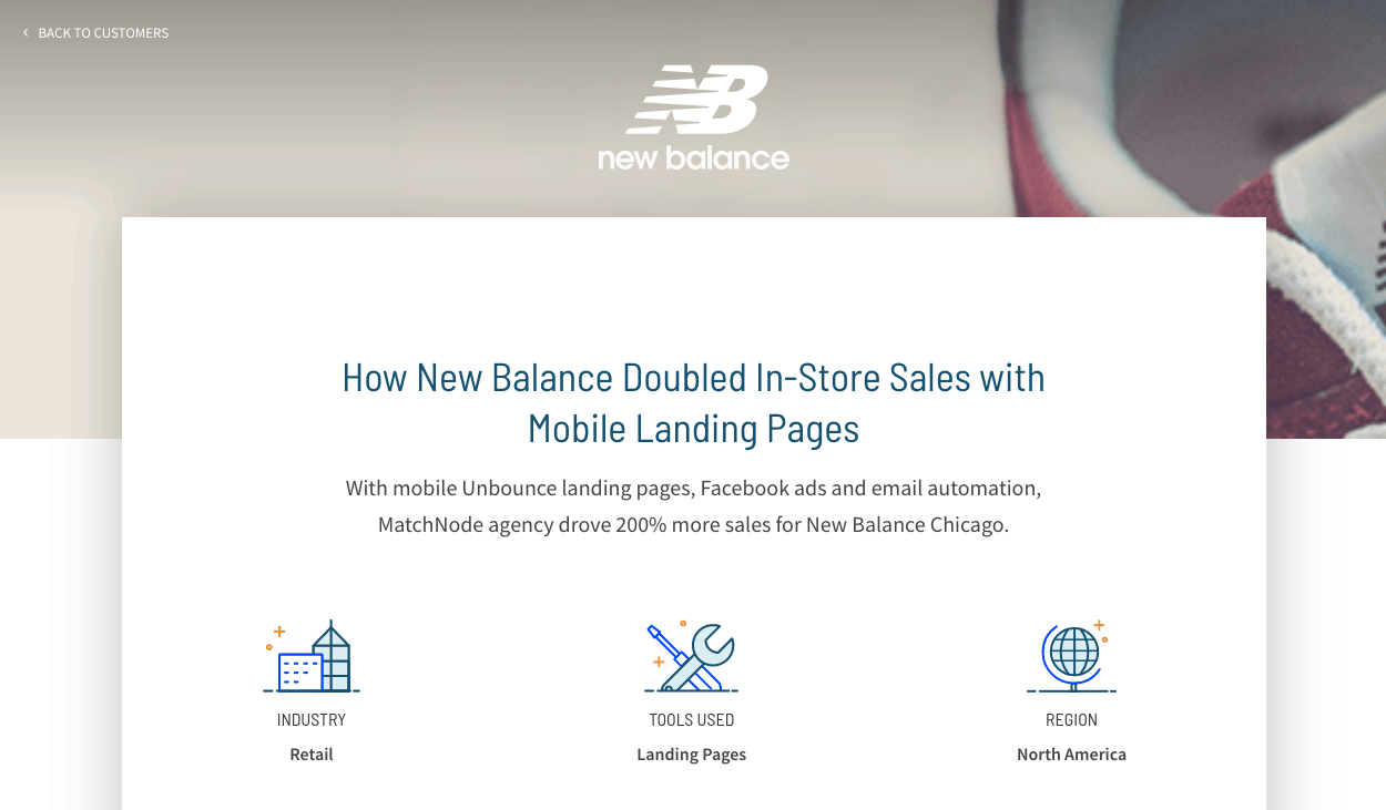 Unbounce uses customer stories to show that their product works.