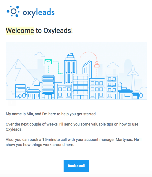A smart email from Oxyleads