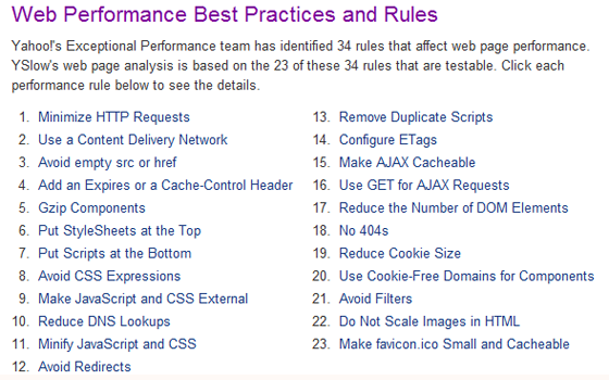 Web Performance Best Practices for Page Speed