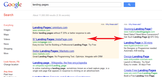 Pay Per Click Text Ads on Google