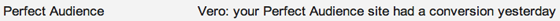 Perfect Audience Email Subject Line