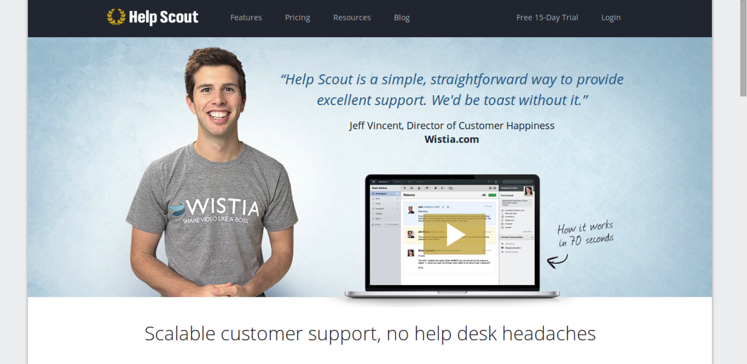 Persuasion: Helpscout example