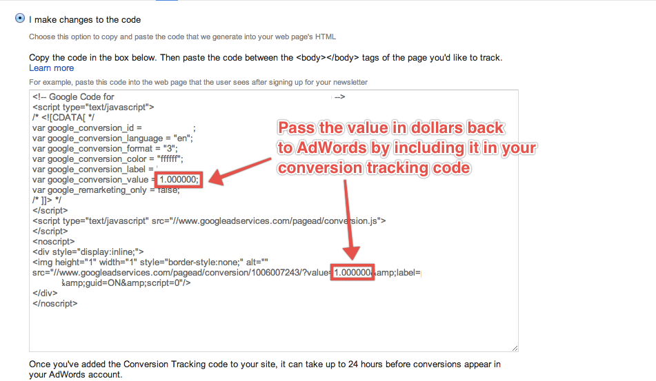 PPC: Conversion value