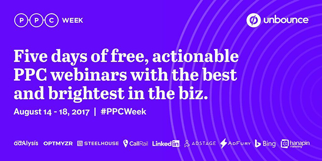 Join 14 Performance Marketing Experts for PPC Week, August 14-18