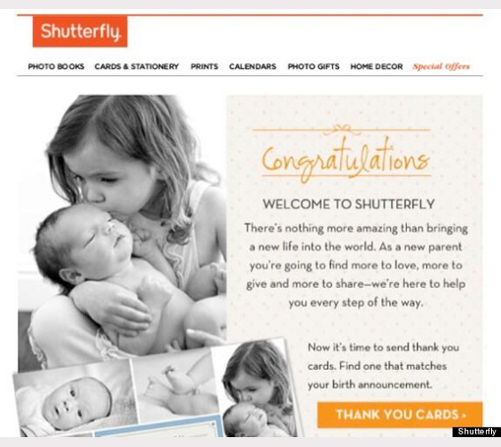 Shutterfly email example