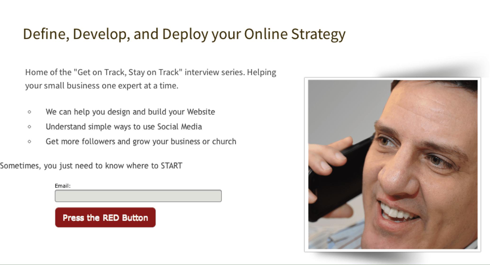 Social Media: big red button