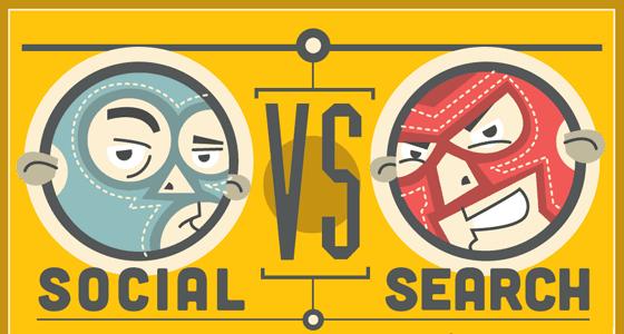 social vs search marketing