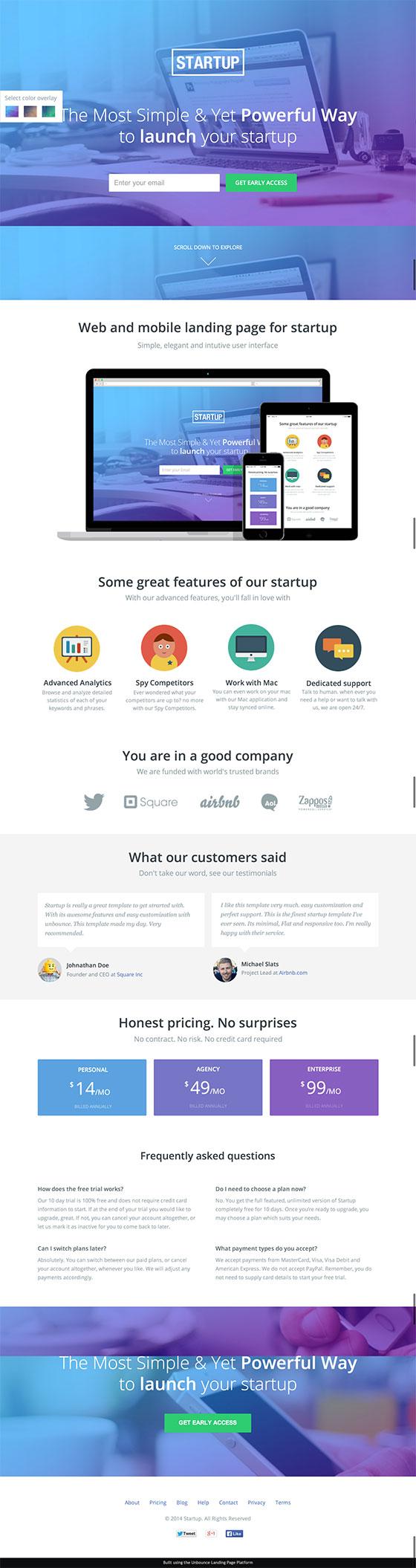 startups-landing-page