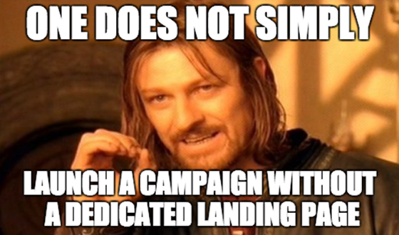 Successful Marketing Campaigns: Dedicated Landing Page