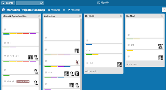 Successful Marketing Campaigns: Trello Board