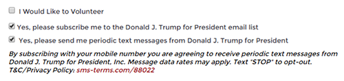 text-messages-automatically-checked-donald-trump-presidential-marketing-campaign