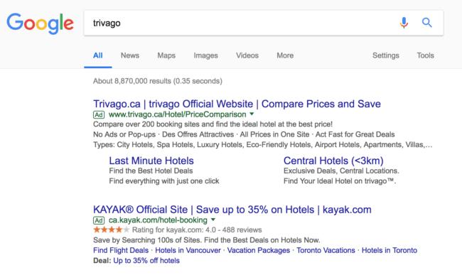 trivago results