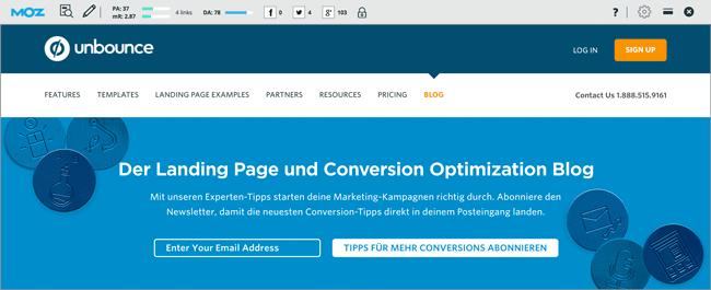 Content Marketing Tools: MOZbar