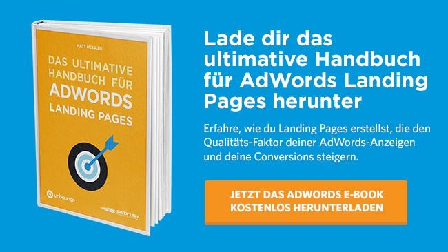 Das ultimative AdWords Landing Page E-Book kostenlos herunterladen