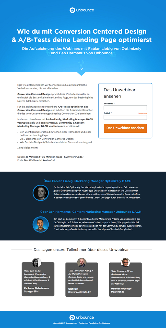 unbounce-german-webinar-registration-page