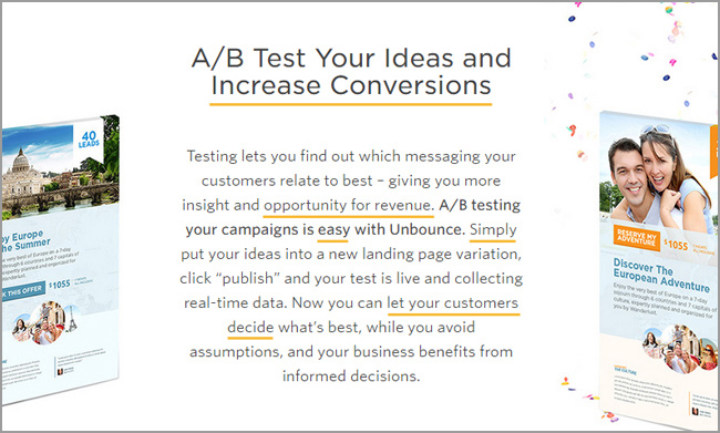 Unbounce Landing Page A/B-Test