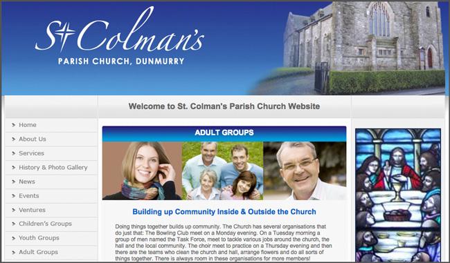 Unbounce: Stockphotos auf der Homepage der St. Colman's Parish Church