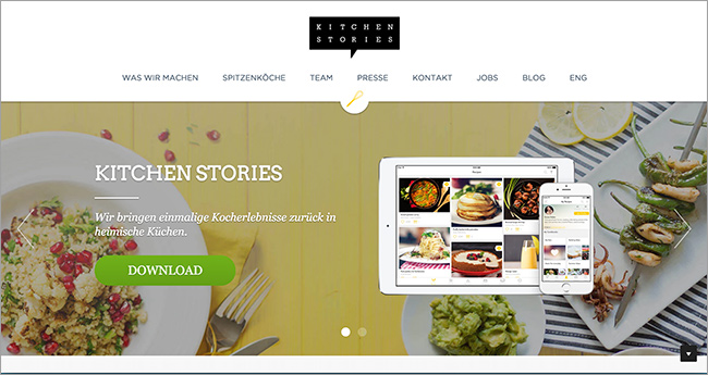 Unbounce: Start-Up Kitchen Stories im Landing Page Check