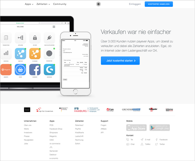 Unbounce: Start-Up payever im Landing Page Check