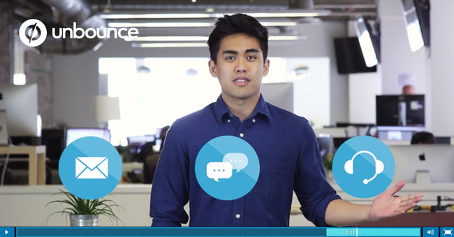 Unbounce Landing Page Videos