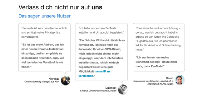 Unbounce: Start-Up ZenMate im Landing Page Check