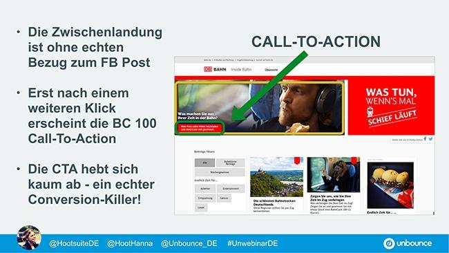 Unbounce Social Media Message Match Deutsche Bahn 2