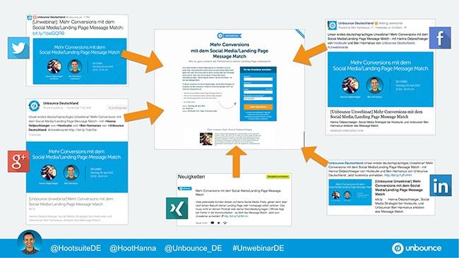 Unbounce Unwebinar Social Media Landing Page Message Match 2