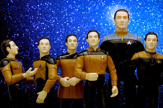 Image of Data Plastic figures from Startrek