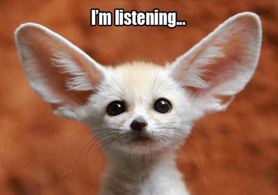 User Feedback - I'm Listening