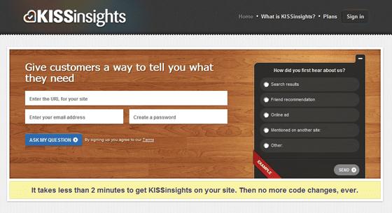 Kiss Insights User Feedback Tool