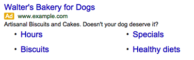 walters-bakery-for-dog-adwords-ad