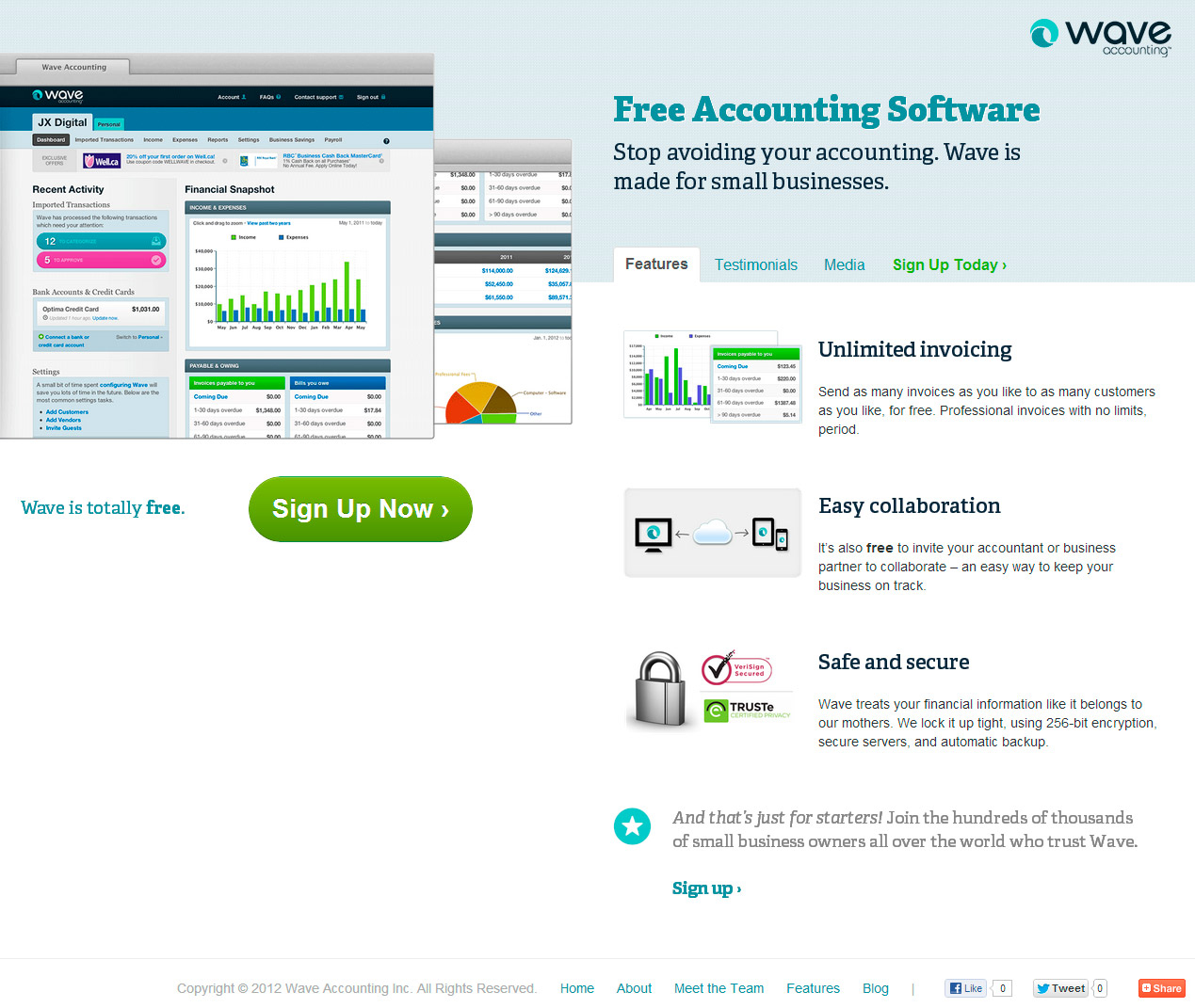 Accounting: 8 Small Business Product Landing Pages Critiqued For