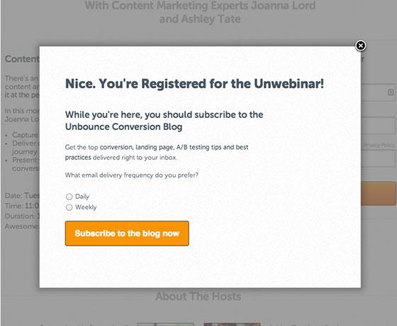 Webinar Marketing - Post-Conversion