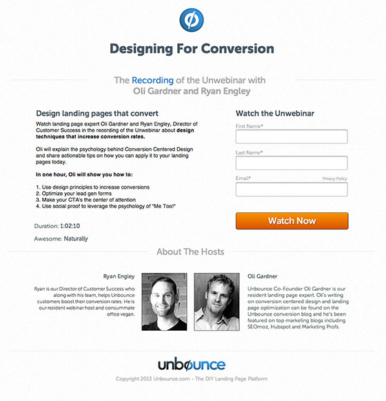 conversion centered design webinar oli gardner