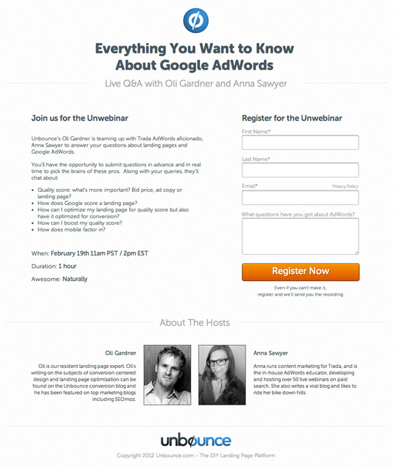 ebook download landing page