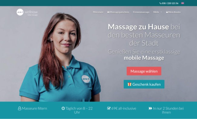 Wellnow Landing Page