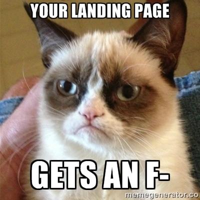 landing page design examples critique